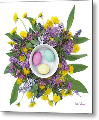 Eggs In A Bowl Metal Print by Lise Winne