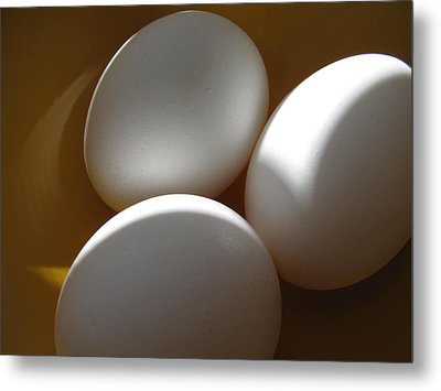 Eggs Metal Print by Lindie Racz