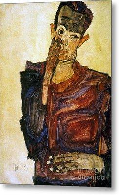 Egon Schiele (1890-1918) Metal Print by Granger