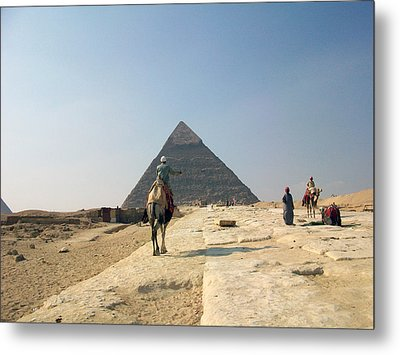 Egypt - Pyramid3 Metal Print by Munir Alawi