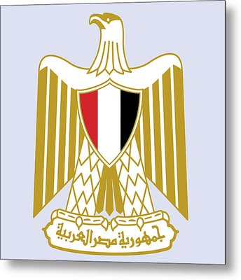 Egypt Coat Of Arms Metal Print by Movie Poster Prints