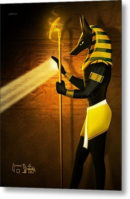 Egyptian God Anubis Metal Print