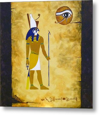 Egyptian God Horus Metal Print by Craig Johnstone