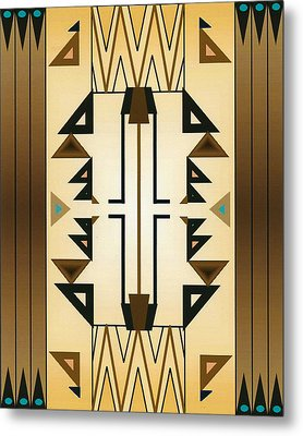 Egyptian Moderne Metal Print by Tara Hutton