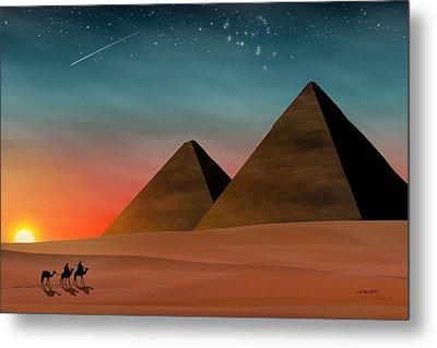 Egyptian Pyramids Metal Print