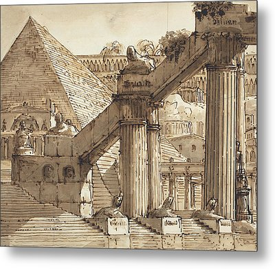 Egyptian Stage Design Metal Print