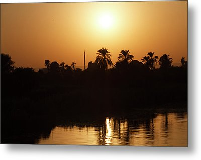 Metal Print featuring the photograph Egyptian Sunset by Silvia Bruno