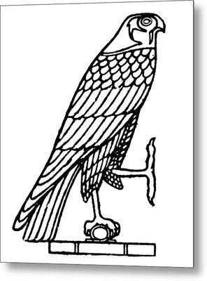 Egyptian Symbol: Falcon Metal Print by Granger