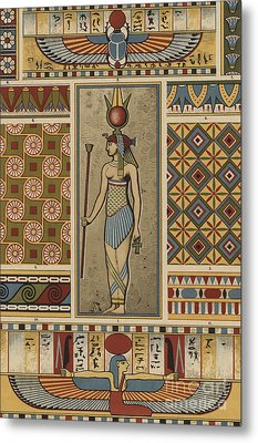 Egyptian Textile Patterns Metal Print