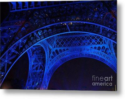 Eiffel Blue Metal Print