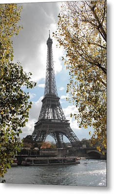 Metal Print featuring the photograph Eiffel From Avenue De New York by Christopher Kirby