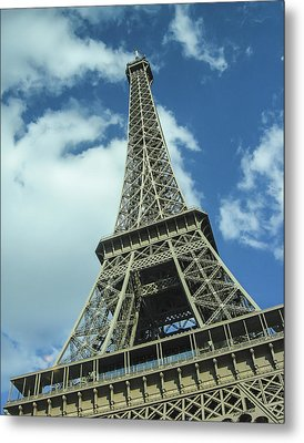 Metal Print featuring the photograph Eiffel Tower by Allen Sheffield
