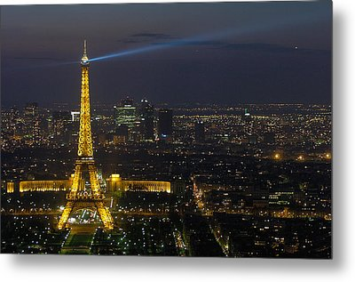 Eiffel Tower At Night Metal Print by Sebastian Musial