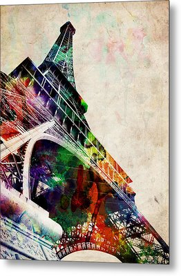 Eiffel Tower Metal Print by Michael Tompsett
