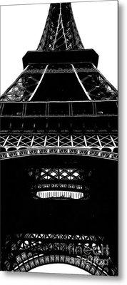 Eiffel Tower Paris Graphic Phone Case Metal Print by Edward Fielding