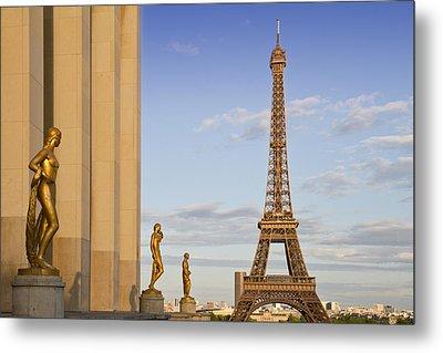 Eiffel Tower Paris Trocadero  Metal Print by Melanie Viola