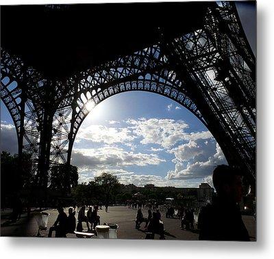 Eiffel Tower Sky Metal Print by Rosie Brown