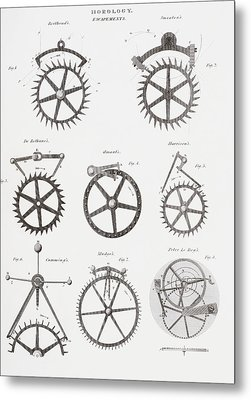 Eight Different Escapement Systems By Metal Print
