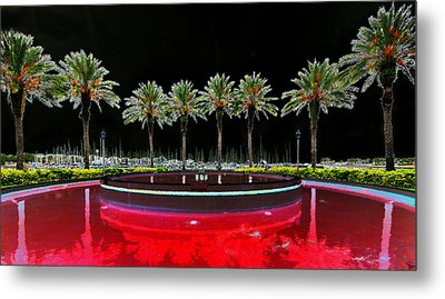 Eight Palms Drinking Wine Metal Print by David Lee Thompson