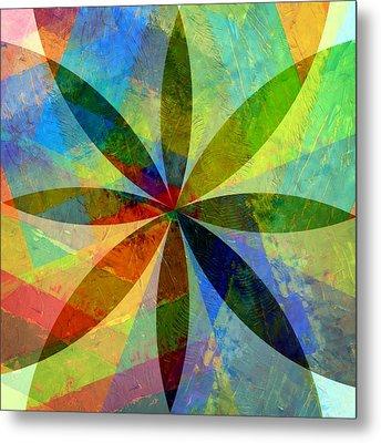 Eight Petals Metal Print by Michelle Calkins