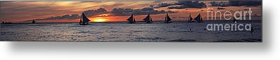 Eight Sailer Metal Print by Joerg Lingnau