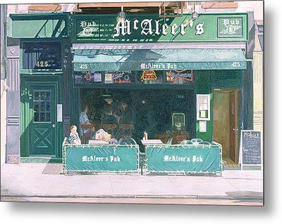 Eightieth And Amsterdam Avenue Metal Print by Anthony Butera