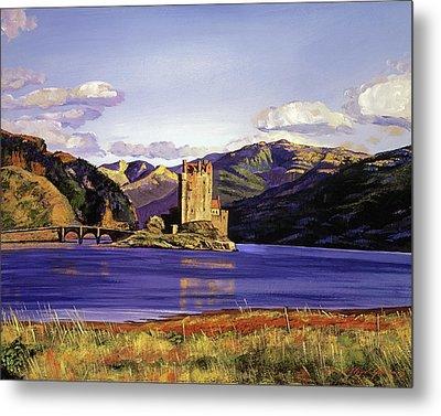Eilean Donan Castle Metal Print by David Lloyd Glover