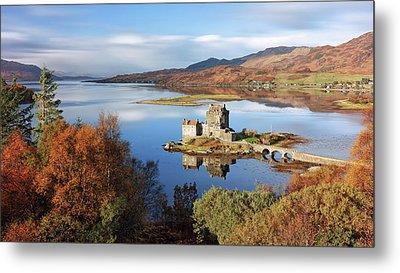 Metal Print featuring the photograph Eilean Donan In Autumn - Dornie by Grant Glendinning