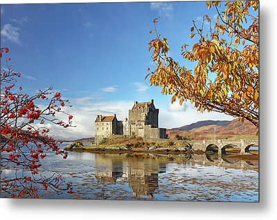Metal Print featuring the photograph Eilean Donan In Autumn by Grant Glendinning