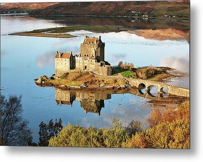 Metal Print featuring the photograph Eilean Donan - Loch Duich Reflection - Skye And Lochalsh by Grant Glendinning