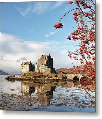 Metal Print featuring the photograph Eilean Donan - Loch Duich Reflection - Skye by Grant Glendinning