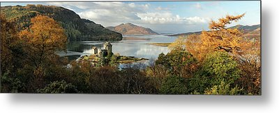 Metal Print featuring the photograph Eilean Donan Panorama - Autumn by Grant Glendinning