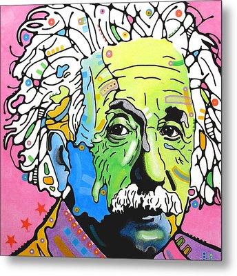 Metal Print featuring the painting Einstein by Dean Russo
