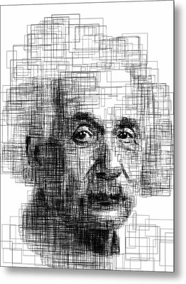 Einstein  Metal Print by Harold Belarmino