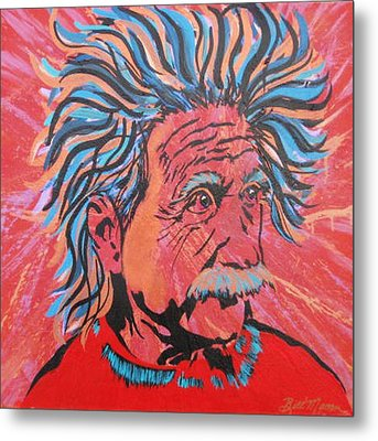 Einstein-in The Moment Metal Print