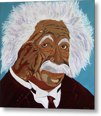 Einstein-relative Thinking Metal Print