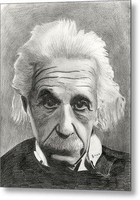 Einstein's Eyes Metal Print by Charles Vogan