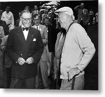 Eisenhower At Pebble Beach Metal Print by Underwood Archives