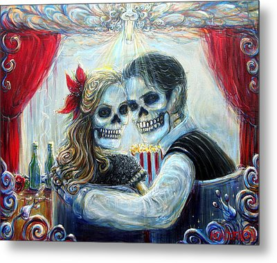 Metal Print featuring the painting El Cine by Heather Calderon