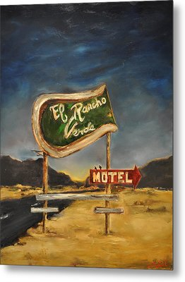 Metal Print featuring the painting El Rancho by Lindsay Frost