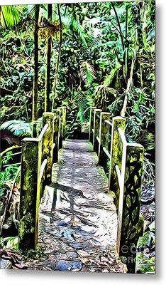 El Yunque Bridge Metal Print by Carey Chen