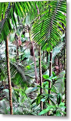 El Yunque Rainforest 5 Metal Print by Carey Chen