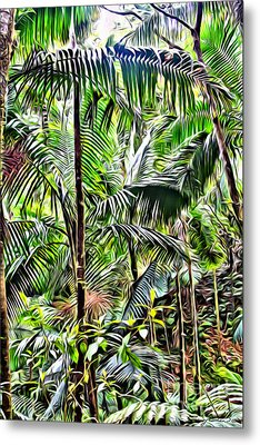 El Yunque Rainforest 6 Metal Print by Carey Chen