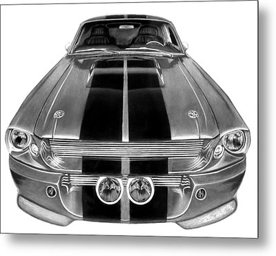 Eleanor Ford Mustang Metal Print