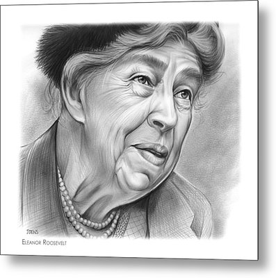Eleanor Roosevelt Metal Print by Greg Joens