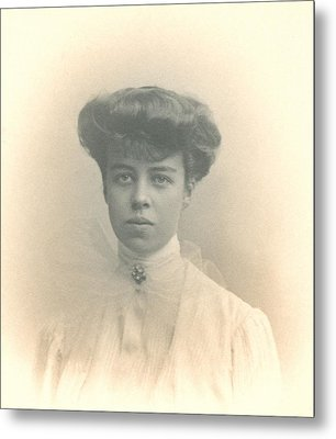 Eleanor Roosevelts Coming Out Portrait Metal Print by Everett