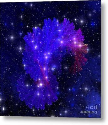 Electra Blue Nebula Metal Print