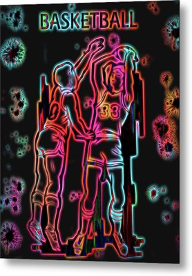 Electric Basketball Poster Metal Print by Dan Sproul
