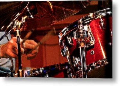 Electric Drums Metal Print by Cameron Wood