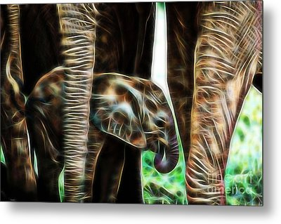 Electric Elephant Wall Art Collection Metal Print by Marvin Blaine